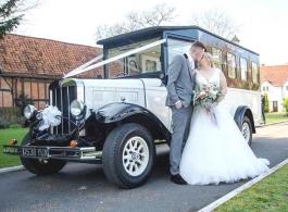 Vintage wedding bus hire in Hitchin